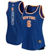Kristaps Porzingis New York Knicks Fanatics Branded Women's Fast Break Tank Jersey - Icon Edition - Royal