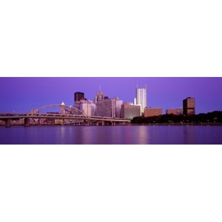Allegheny River Pittsburgh Pa Canvas Art   Panoramic Images  15 X 5