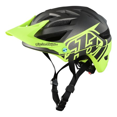 Youth Cycling Helmet - Troy Lee Designs 2018 A1 Classic Cycling Youth MIPS Helmet - Dark Grey/Yellow