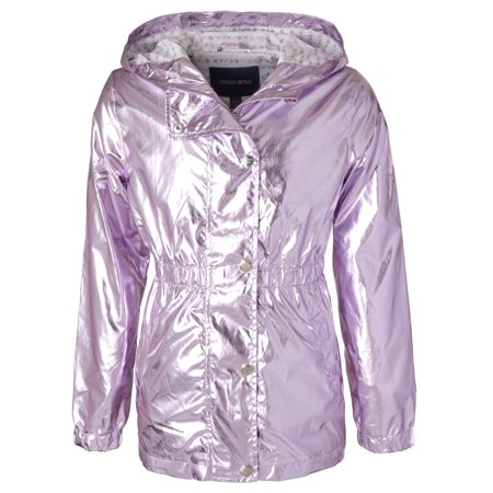 Metallic Anorak Jacket (Little Girls & Big - Silver Fusion Jackets