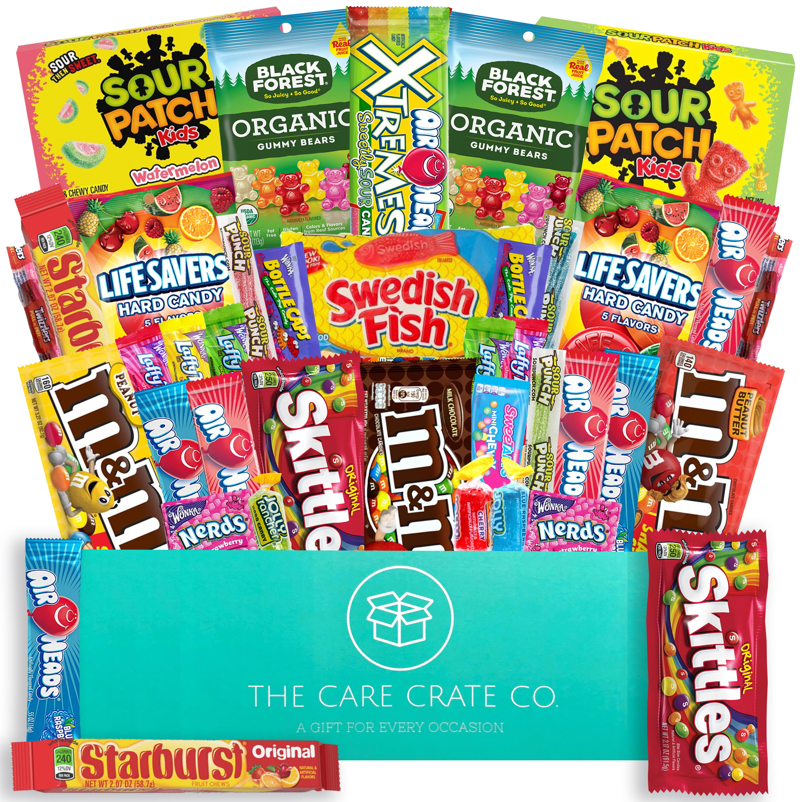 My College Crate Bulk Candy Snacks Variety Pack Box 40 Piece Giant Care Package With Full Size Candies And Smaller Assortment Gift Basket For Kids And Adults Walmart Com Walmart Com