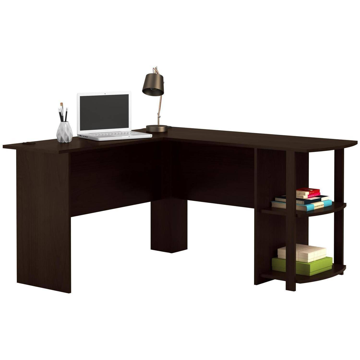 Ameriwood L Shaped Office Desk With Side Storage Multiple Finishes Com