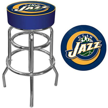 "Trademark Global NBA Utah Jazz 31"" Padded Swivel Bar Stool by"