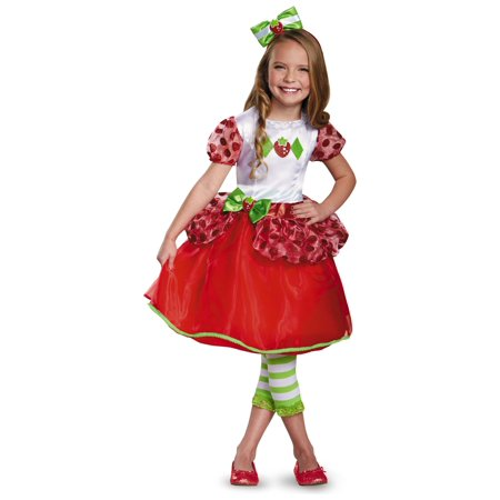 Strawberry Shortcake Little Girls Costume Dress Bow Headband (80's Girl Rock Band Costumes)