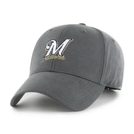 Fan Favorite MLB Basic Adjustable Hat, Milwaukee (Single Soft Heat Brewer)