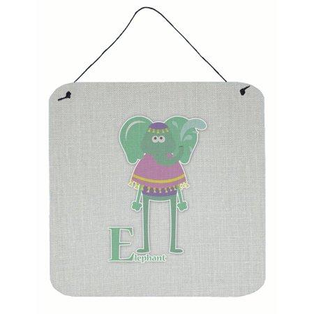 Alphabet Elephant (Alphabet E for Elephant Wall or Door Hanging Prints BB5730DS66)