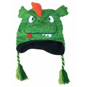 Aquarius Boys Green Monster Hat Dragon Peruvian Style Critter Trapper