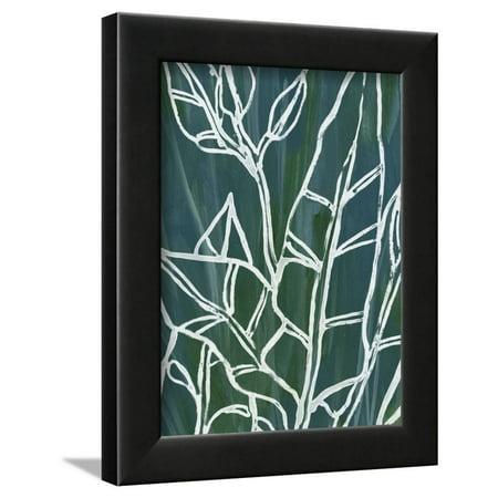 9' Black Jungle (Jungle Batik III Framed Print Wall Art By June Erica Vess)