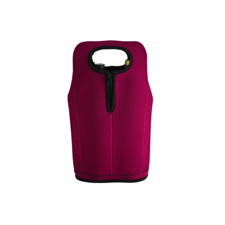 Travelwell BURGUNDY NEOPRENE TWO-BOTTLE WINE CARRIER