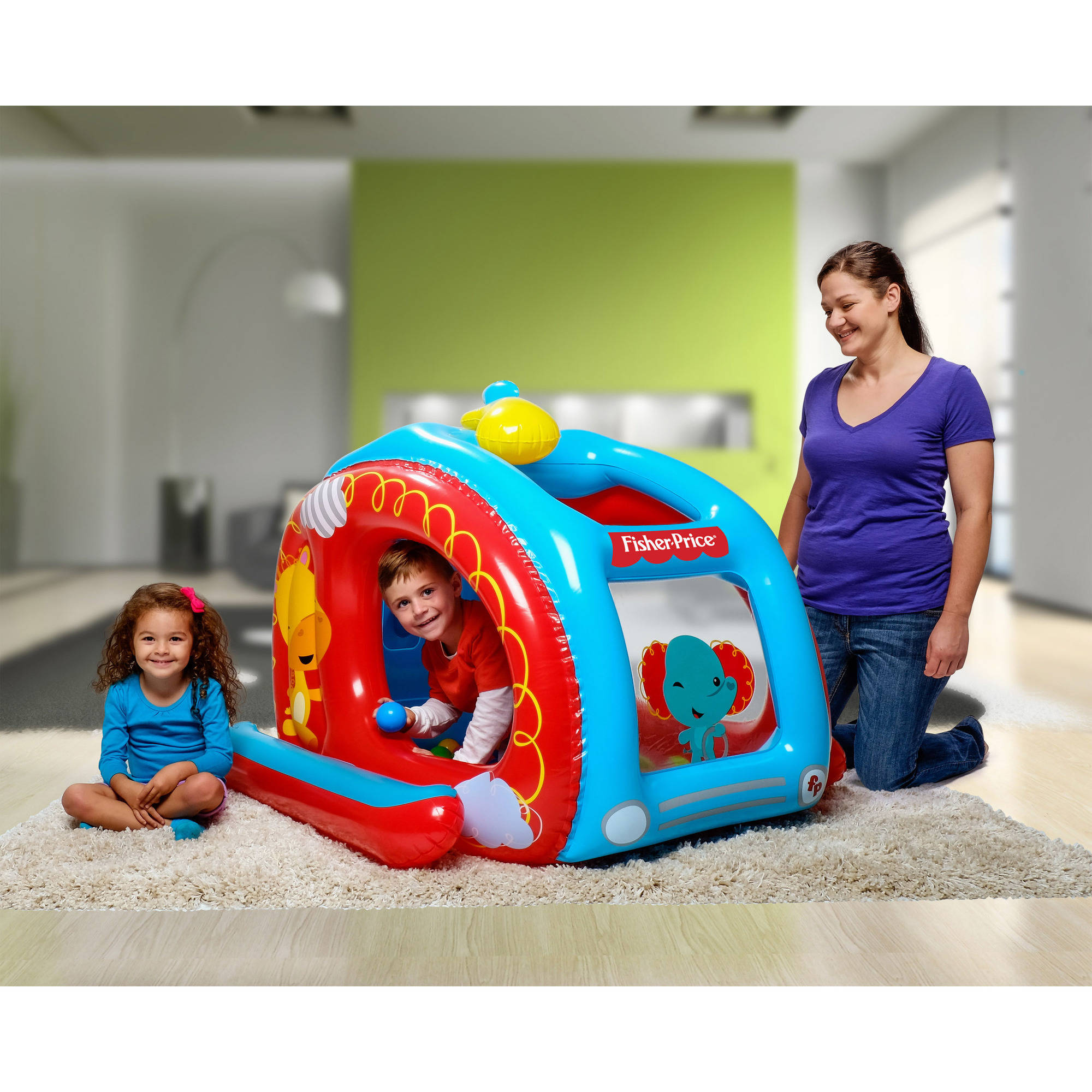 Fisher price inflatable fire truck ball pit for Ball pits near me
