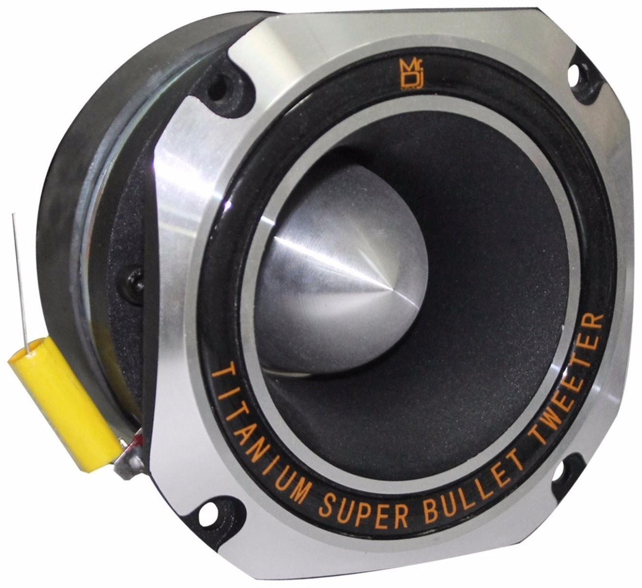 Mr. Dj HD1000S 4-Inch Titanium Bullet High Compression Tweeter with 11 Ounce Ferrite Magnet (Chrome)