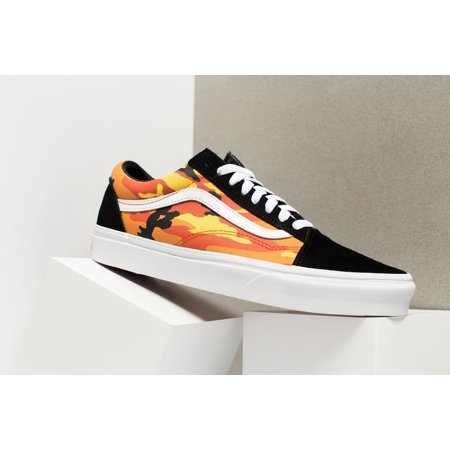 6b0f7ddd3e Vans - Mens Vans Old Skool Pop Camo Black Spicy Orange White VN0A38G1RK3 -  Walmart.com