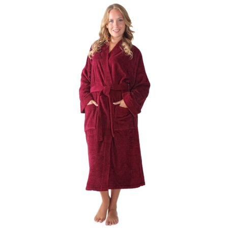 Women's Long Kimono Style Turkish Cotton Terry Cloth Bathrobe