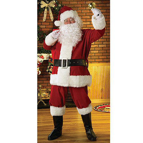 Plush Regal Santa Suit, One Size