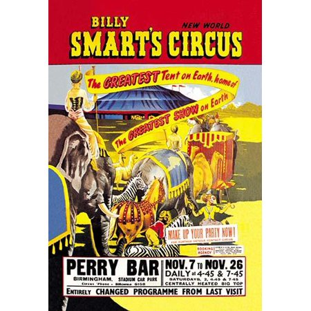 - Billy Smart bought a British travelling funfair in the 1930s and expanded it with horses and a second hand circus tent in 1946  The circus was never very large but became famous in the United Kingdom