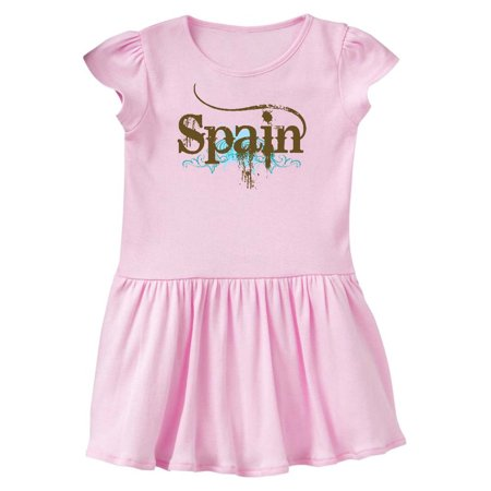 Spain Country Grunge Shirts Toddler Dress - Spanish Dresses
