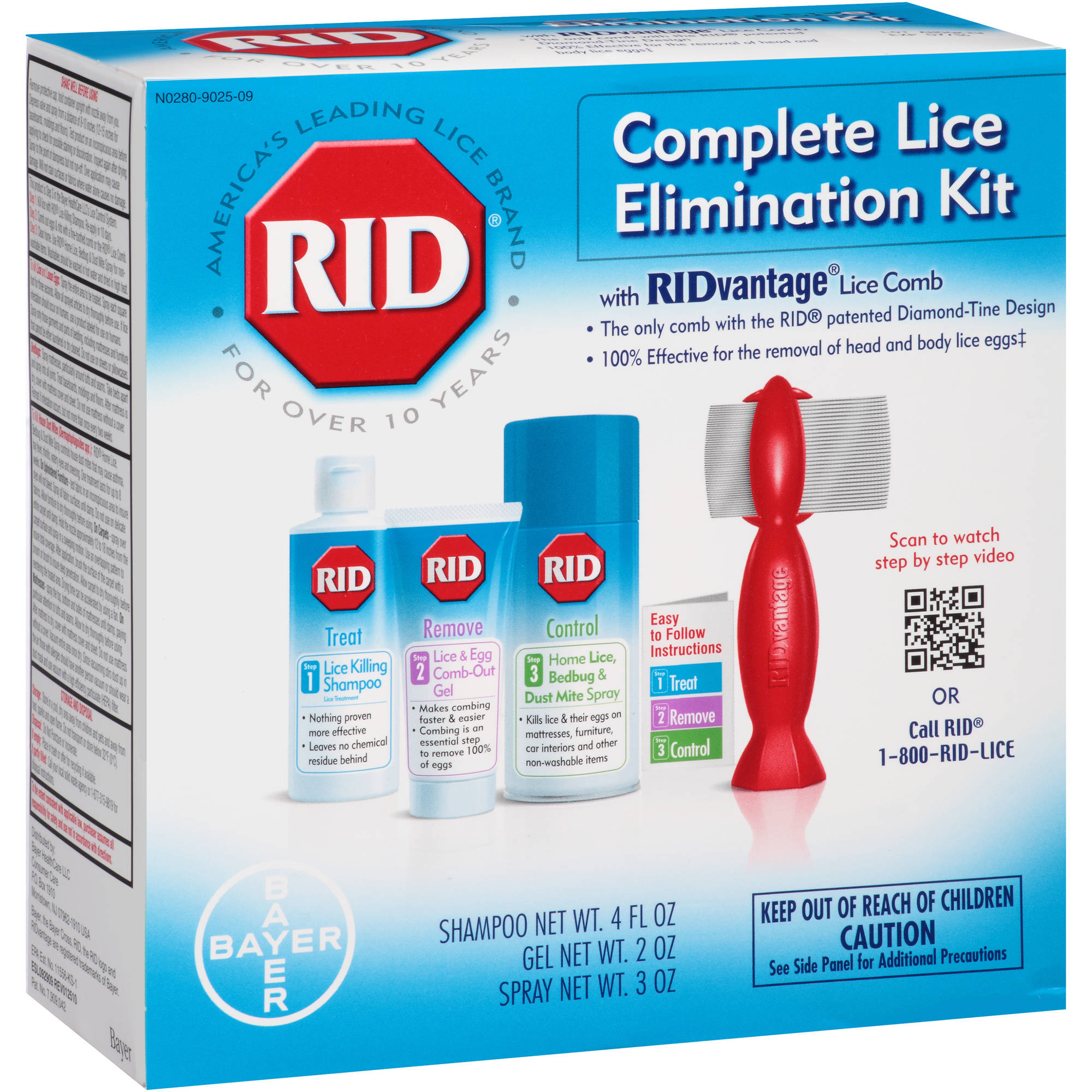 RID Complete Lice Elimination Kit, 4 pc