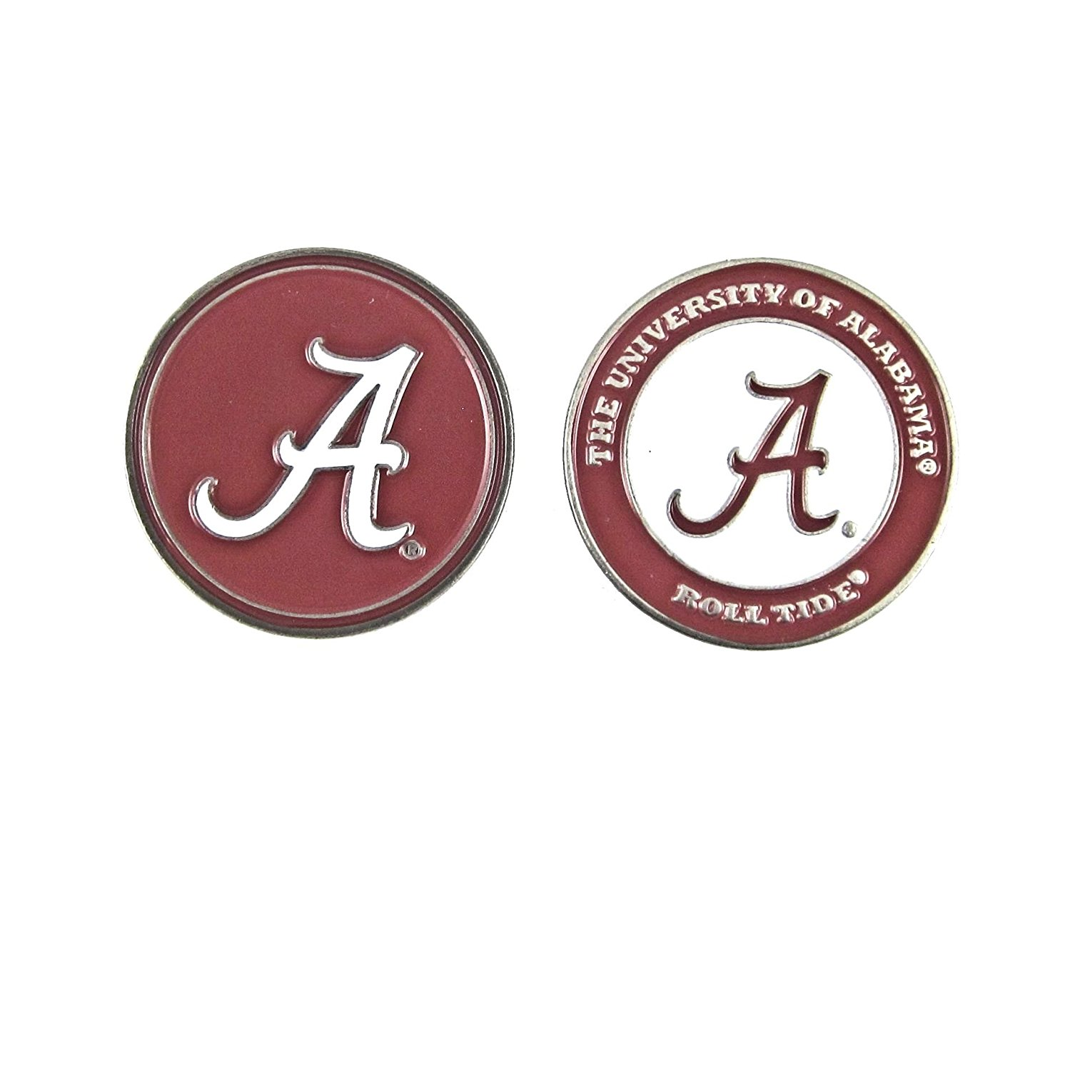 Alabama Crimson Tide Double-Sided Golf Ball Marker, University of Alabama Golf Ball Marker By Waggle Pro Shop,USA