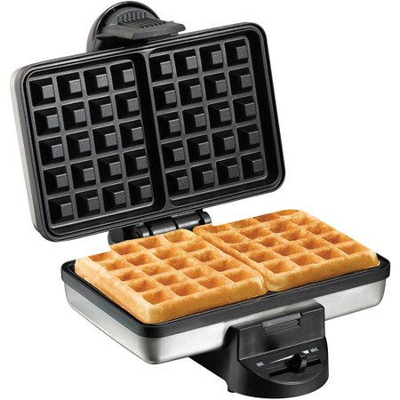 Hamilton Beach Two Square Belgian Style Waffle Maker Model 26009