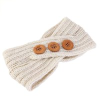 Michellem Bohemian Elastic Crochet Knitted Wool Headband Headwrap Ear Warmer Cross Hairband Fall Winter Warm