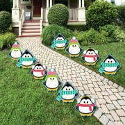 holly jolly penguin penguin lawn decorations outdoor holiday christmas yard decorations 10 - Christmas Yard Decorations