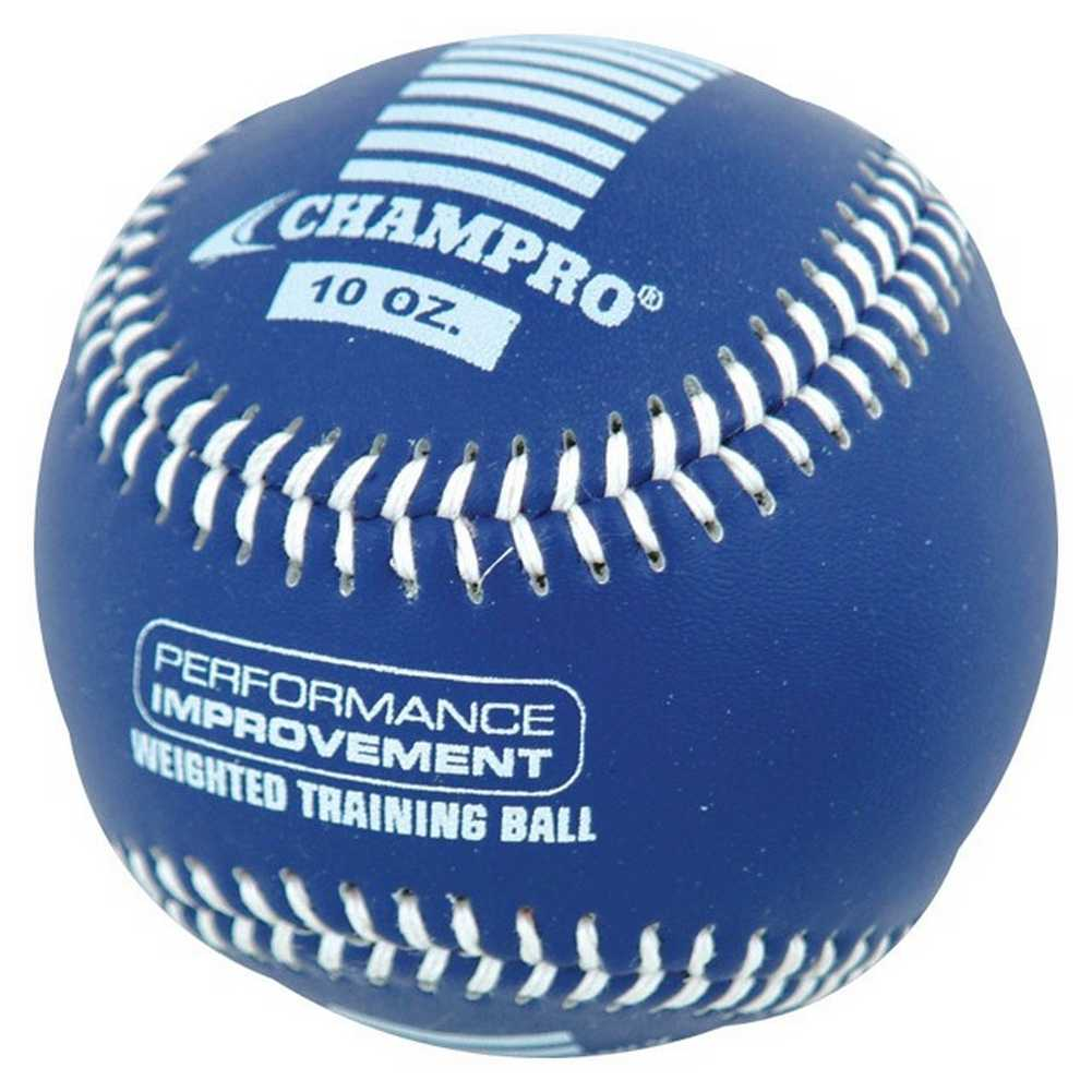 CHAMPRO SPORTS Training Baseball, Weighted 10oz Blue Leather Ball CBB710
