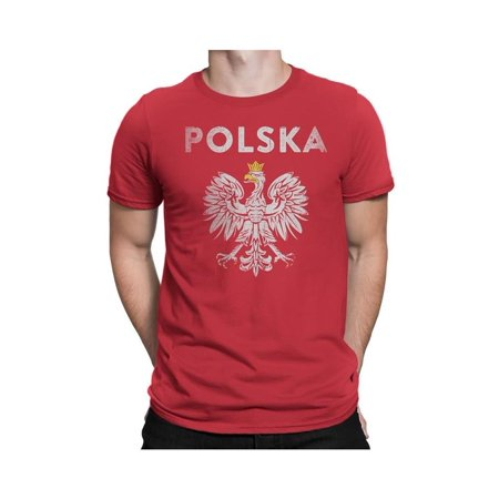 NYC FACTORY Poland Polska Eagle Tee Mens Tee Unisex Shirt Red
