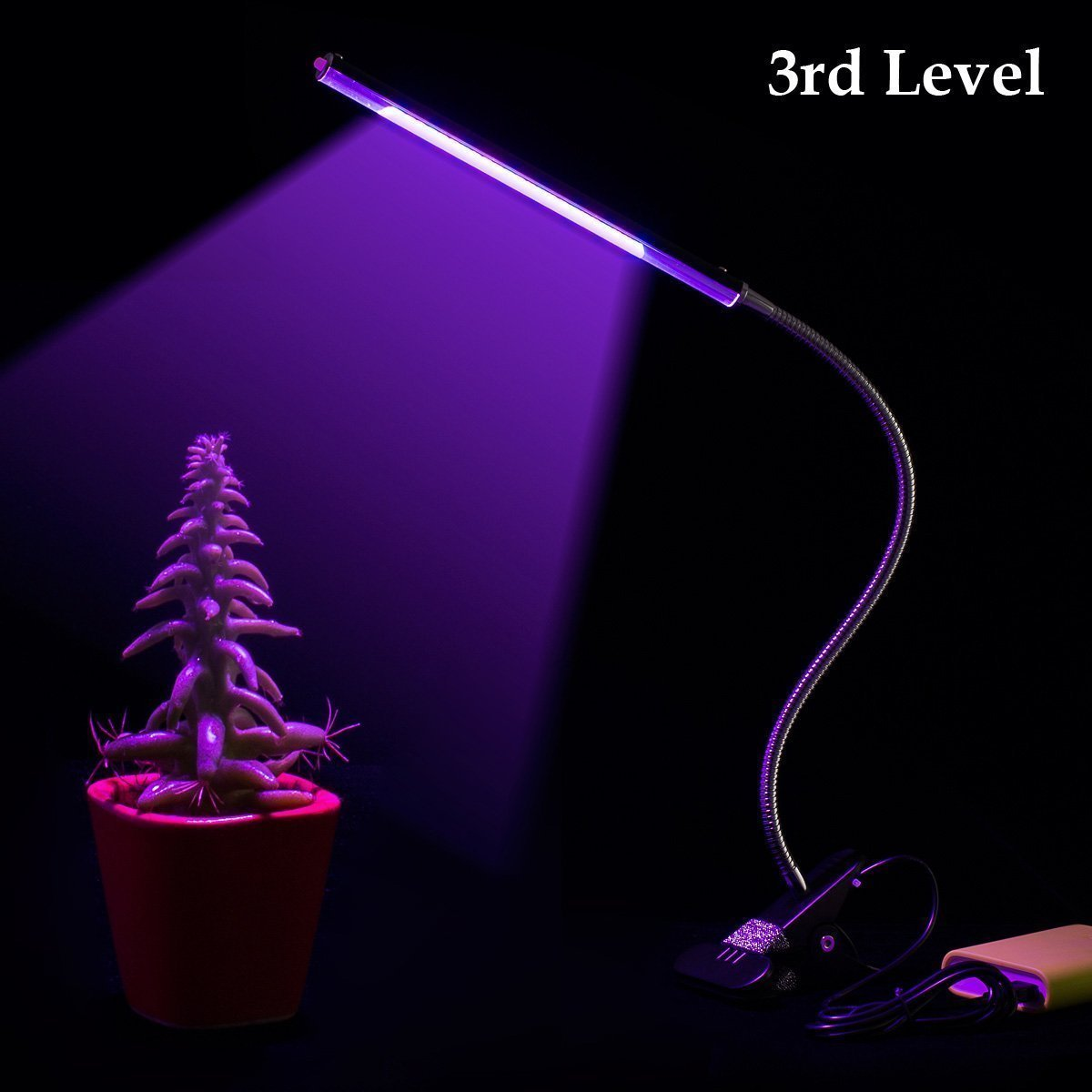 Kohree Led Grow Light Flexible Dual head Grow Lamp Bulb With Built in Timer (3H/6H/12H),USB Charging UL Certified