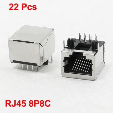Unique Bargains 22 Pcs PCB Surface Mounting 8P8C RJ45 Modular Jack 21 x 16 x (Surface Mounted Modular Jack)