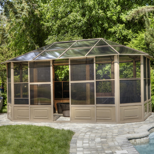Gazebo Penguin All Season Solarium 18 Ft. W x 12 Ft. D Aluminum Permanent Gazebo by Gazebos