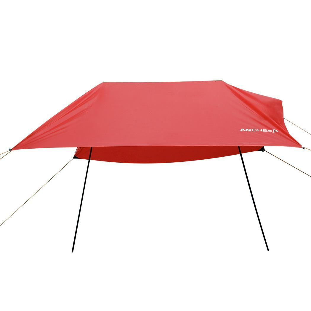 Portable Lightweight Waterproof Rain Tarp Rain Fly Tent Tarp Shelter Sunshade 9.8 x 9.8ft by
