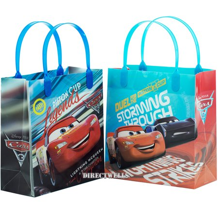 Car Lightning Mcqueen 12 Authentic Licensed Party Favor Reusable Goodie Medium Gift Bags 8