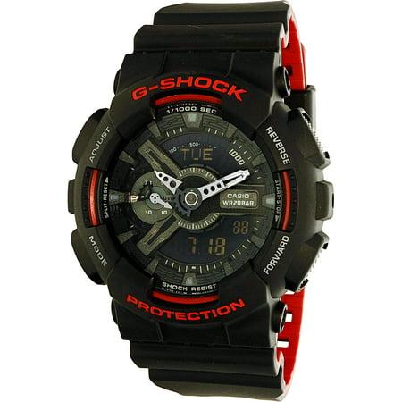 Black Rubber Watch - Men's G-Shock GA110HR-1A Black Rubber Quartz Sport Watch