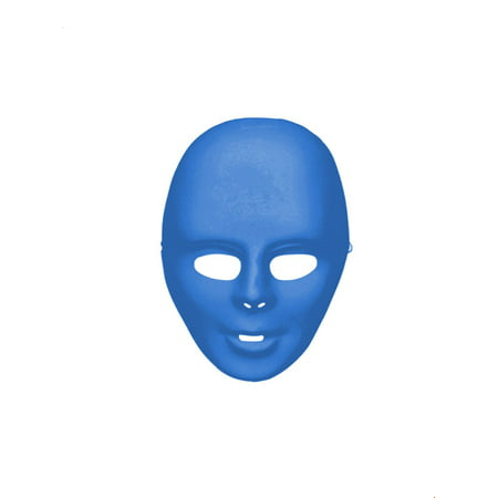 Blue Full Face Mask Halloween Costume Accessory (Halloween Zipper Face Uk)