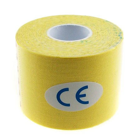 TrendBox Yellow - 1 Roll 5m x 5cm Kinesiology Sports Muscles Care Elastic Physio Therapeutic Tape for Knee Shoulder Wrist Muscle Back Injury