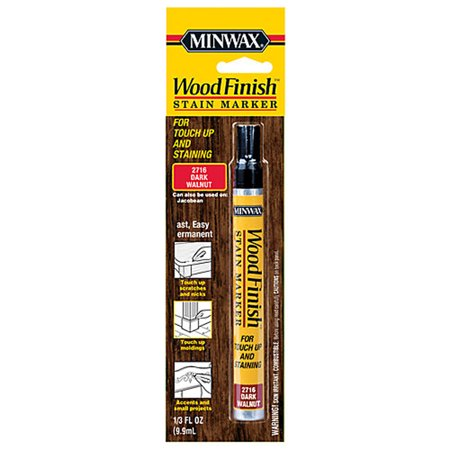 Minwax Wood Finish Stain Marker, 1/3 oz Dark (High Gloss Walnut Finish)