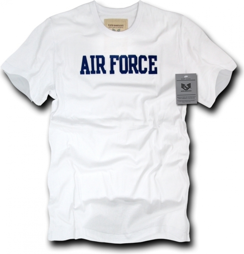Rapid Dominance R54-AIR-HGR-04 Oceanside, Applique Military T-Shirts, Air Force, Heather Grey, X-Large
