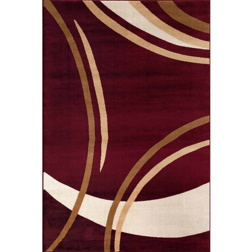 World Rug Gallery Contemporary Modern Wavy Circles Area Rug by World Rug Gallery