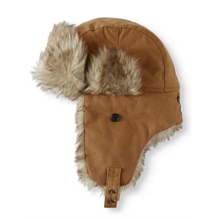 7f249ae7055ff TrueTimber - True Timber Canvas Faux Fur Trapper Hat - Walmart.com