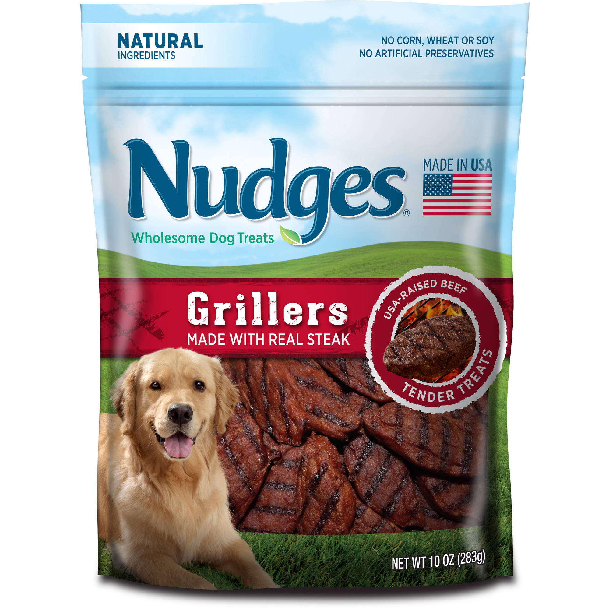 Nudges Wholesome Dog Treats Grillers, 10.0 OZ by Tyson Pet Products, Inc.