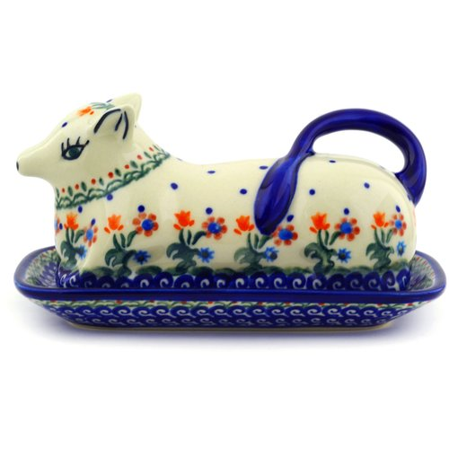 Polmedia Spring Flowers Butter Dish