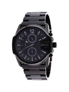 Diesel Men's Blackout Steel Chronograph Watch DZ4180