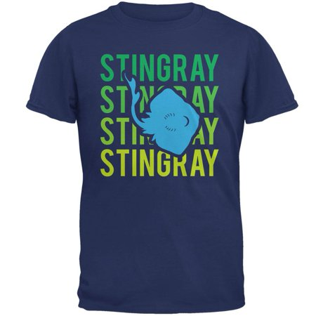 Stingray Ray Stacked Repeat Mens T Shirt