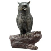 Hooting Owl Indoor / Outdoor Statue Built In Bluetooth Speaker