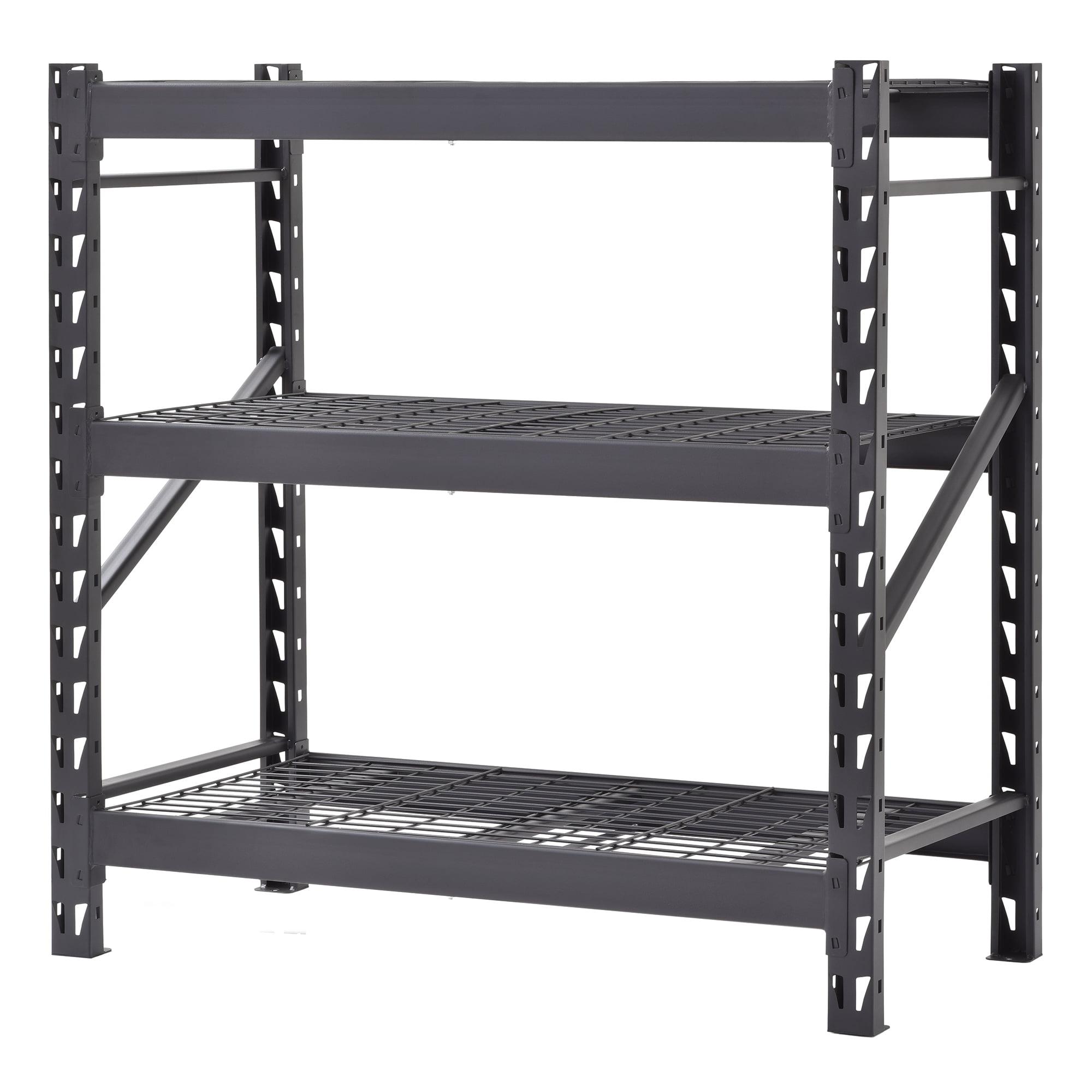 48 In W X 48 In H X 24 In D 3 Shelf Welded Steel Garage Storage Shelving Unit Walmart Com Walmart Com
