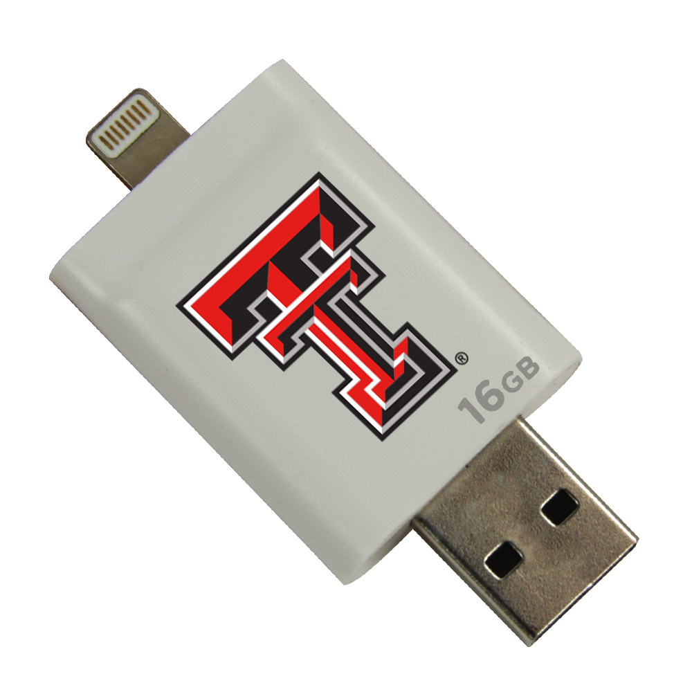 Texas Tech Red Raiders i-FlashDrive HD USB Drive 16GB - White