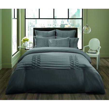 City Scene Triple Diamond Grey Duvet Set, Full/Queen Grey Duvet Set