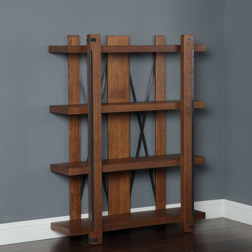 American Furniture Classics Industrial Collection Large Bookcase in Rough Sawn Finish