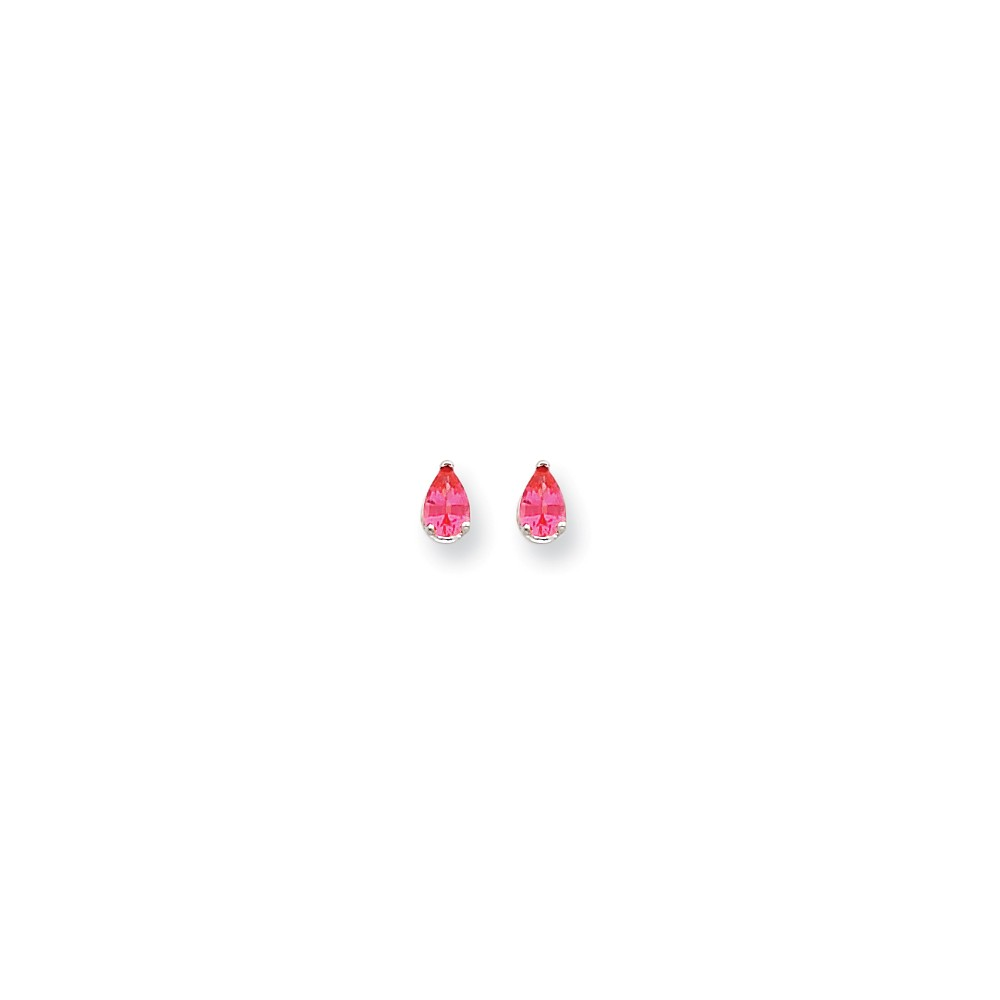 14k White Gold Pink Spinel Earrings by Jewelrypot