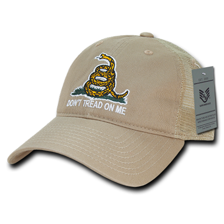 - Rapid Dominance Gadsden Flag Rattlesnake Tea Party USA Flag Relaxed Fit Trucker Cotton Baseball Caps Hats